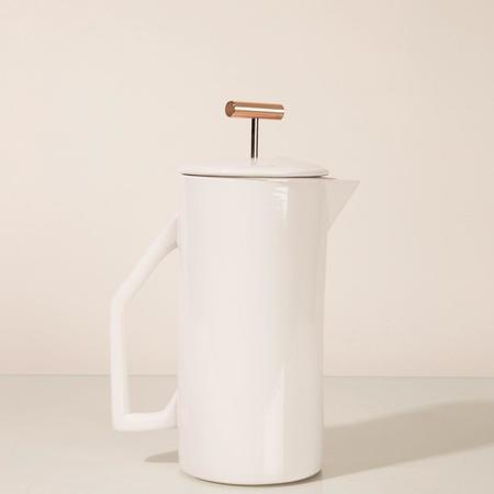 Yield Ceramic French Press - Cream