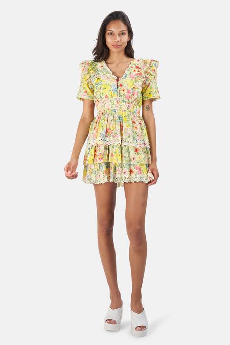 LoveShackFancy Aldina Dress - Rainbow Skies