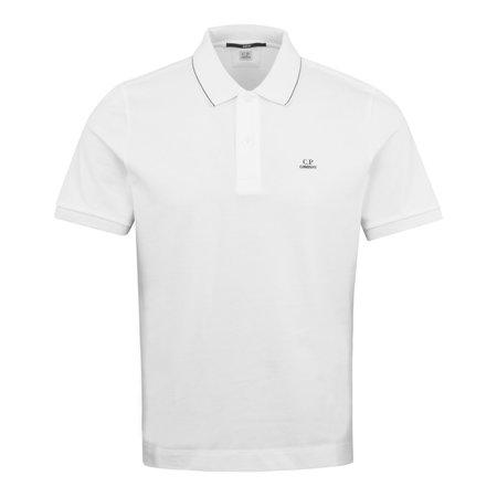 C.P. Company Tipped Polo Shirt - White