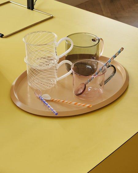 HAY Set Of 2 Borosilicate Mug - Light Gray/Pink