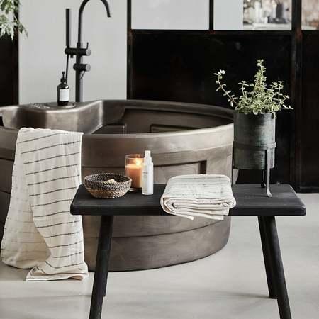 An Artful Life Nadi simple wooden bench - black