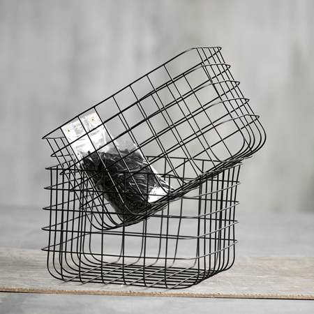 An Artful Life set of 2 wire baskets - black