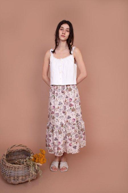 Meadows Magnolia Skirt - Scribble Floral