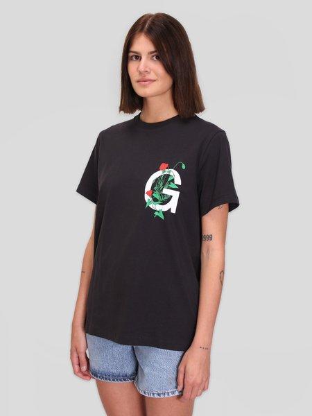 Ganni Basic Cotton Jersey T-Shirt - Phantom