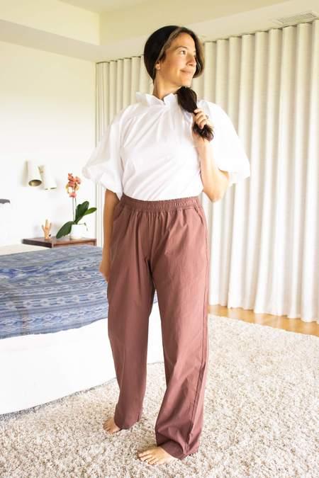 Odeeh Burgandy Trouser - brown