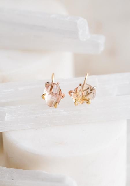 Variance Objects Tourmaline Hook Earrings - 14KT-18KT Gold
