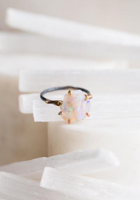 Variance Objects Australian Opal Ring - 14KT-18KT Gold/Silver