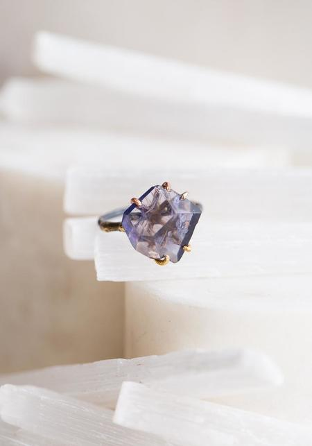 Variance Objects Iolite Ring - 14KT-18KT Gold/Silver