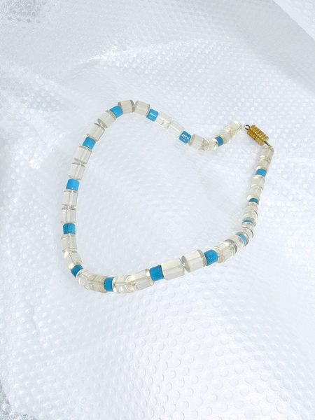 This Woman's Work Margate Necklet jewelry - clear/blue