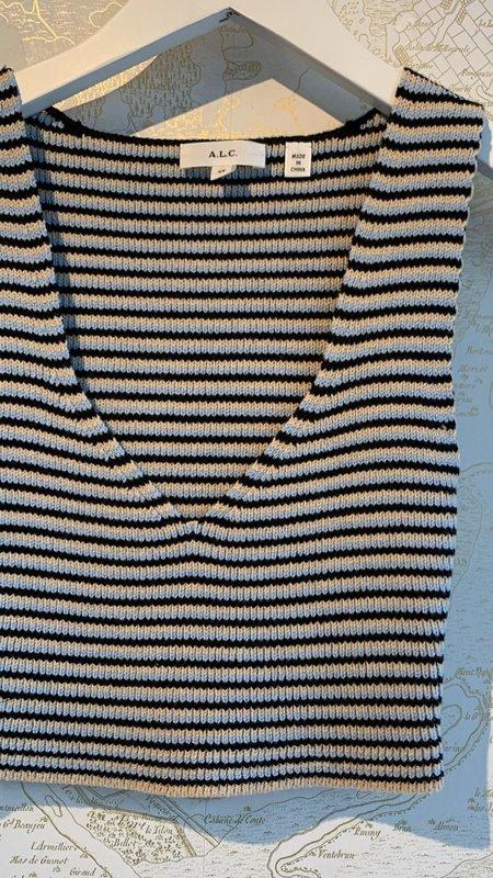 A.L.C. Greyson Ribbed Knit Crop Top