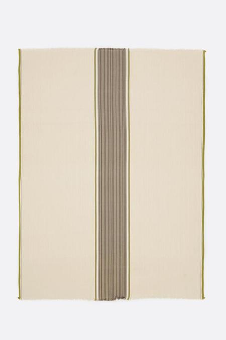 Moismont Summer Blanket - Grey/Brown Stripe