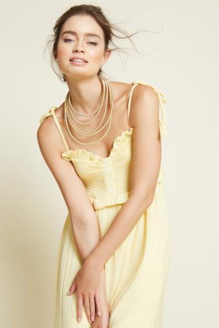 Caballero Thandi Dress - Yellow Dot
