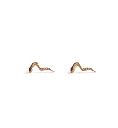 Odette New York Odette Gold Petit Snake Studs