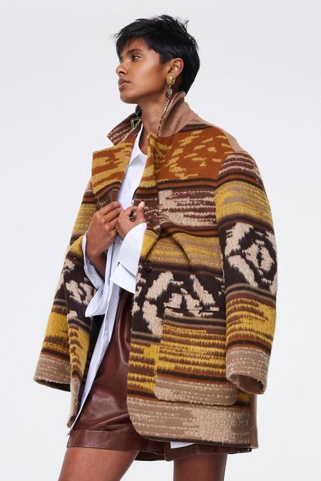 Dorothee Schumacher Luxurious Match Jacket - Graphic Brown