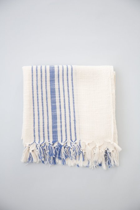 Home & Loft Hudson Towel - Blue Stripe