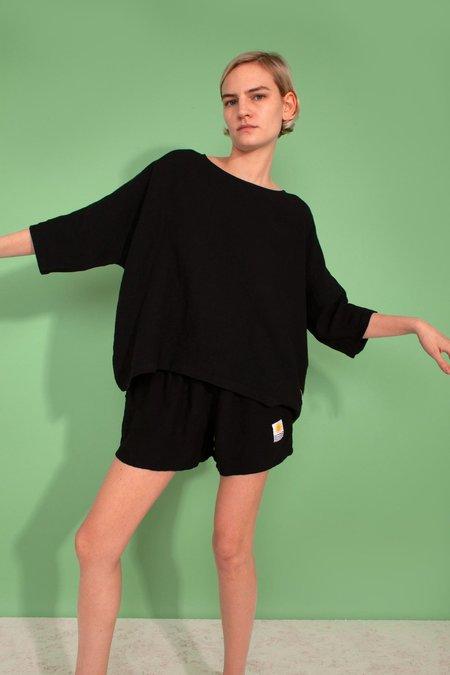 L.F. Markey Basic Linen Shorts - Black