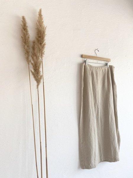 Vintage Linen Skirt - flax