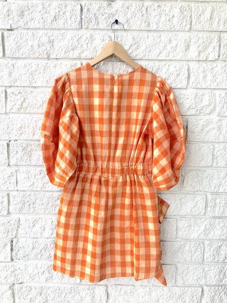Rhode Resort Pia Dress - Linen Check