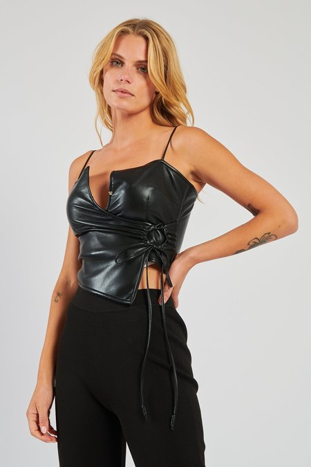 Nanushka Cosimo Leather Top