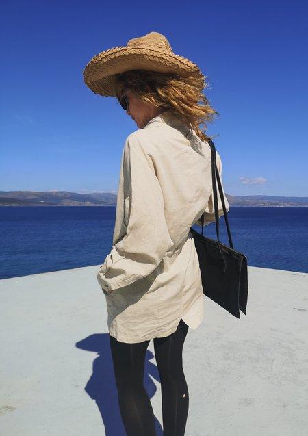 Berenik Linen Summer Dress/Jacket - Natural White