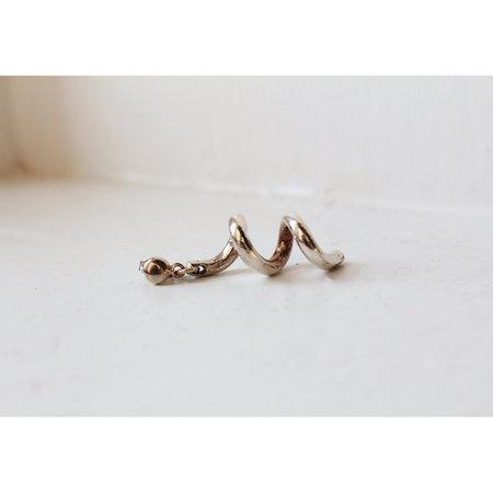 Open House Projects Spiral Earrings - Silver
