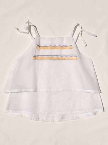 This Woman's Work Sun Top with Raffia Trim