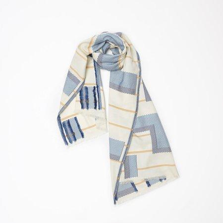 Princesse & Dragon Sutton Scarf - Blue Cotton Jacquard Scarf