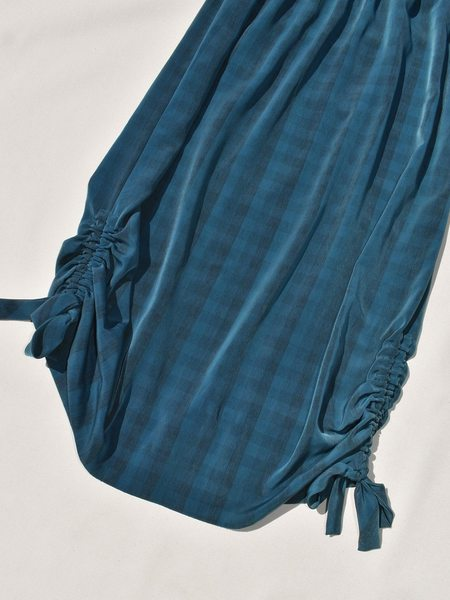 This Woman's Work Tube Skirt with Drawstring Detail - Teal