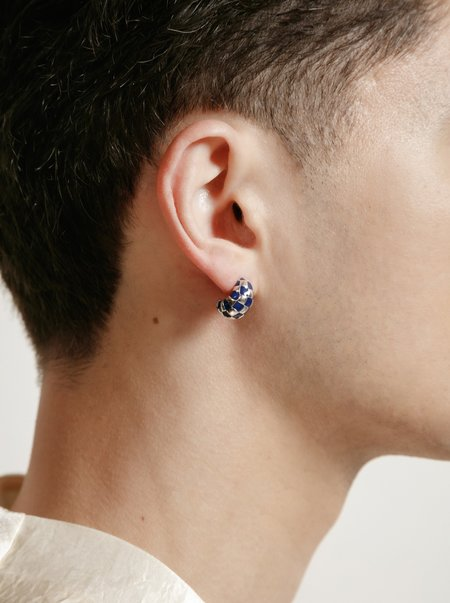 Wolf Circus Small Nellie Earrings - Silver/Navy