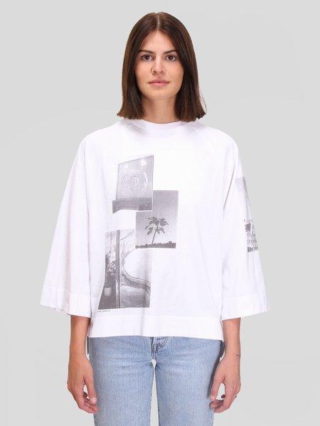 Ganni Basic Cotton Jersey Oversized T-Shirt - Bright White