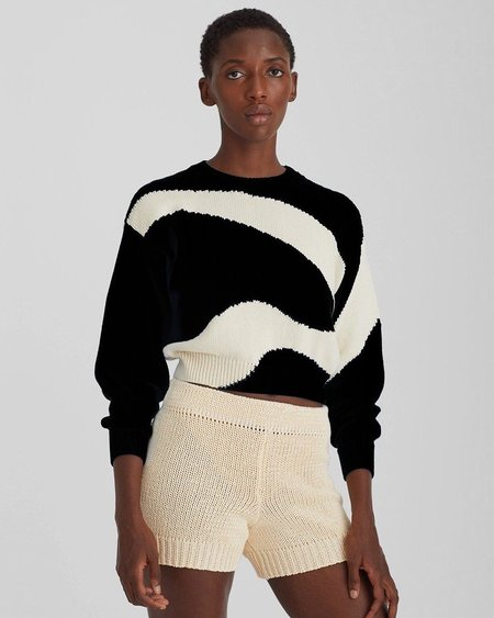 Paloma Wool Pin Sweater - Black/White