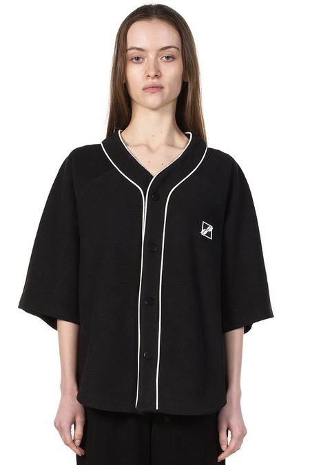 we11done Baseball Shirt - Black