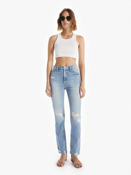 Mother Denim High Waisted Rider Skimp Jeans - The Confession