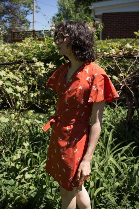 Meemoza Alexis Dress - Burnt Orange Fruits