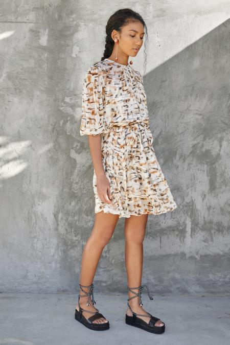 Christy Lynn Amellie Dress - Tiger Print