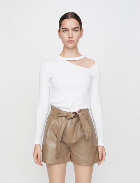 Just Female Rancho Long Sleeve Tee - White