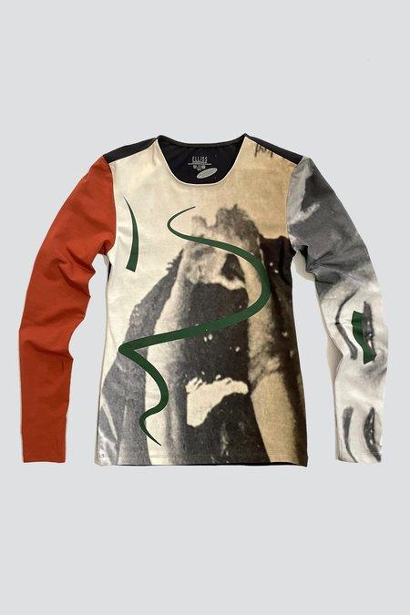 Elliss  Abstract Long Sleeve T-Shirt - multi