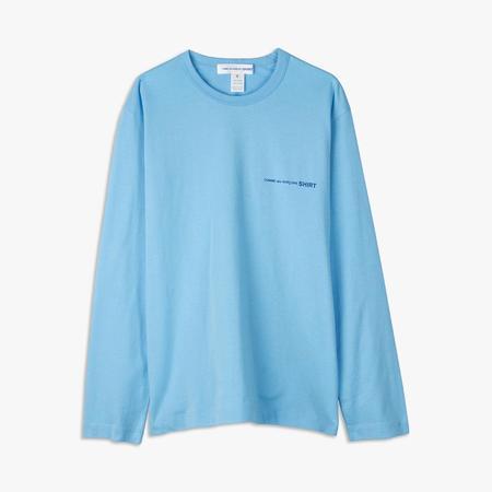 COMME des GARÇONS Long Sleeve T-shirt - Blue