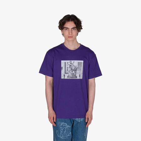supra distribution Fucking Awesome Perspective Statue T-shirt - Purple