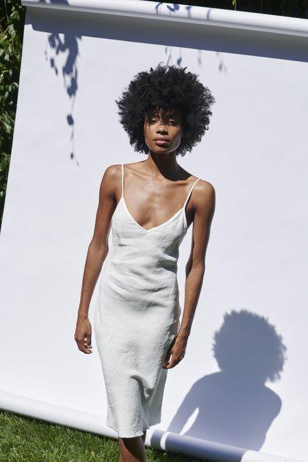 KES Linen Slip Dress - Natural