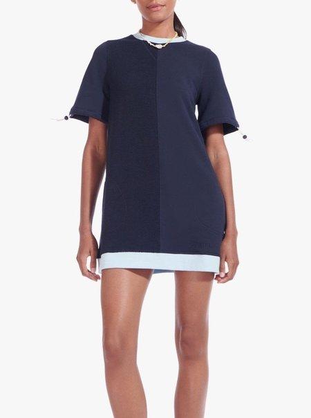 Staud Bungee Sweatshirt Dress - DEEPSEA