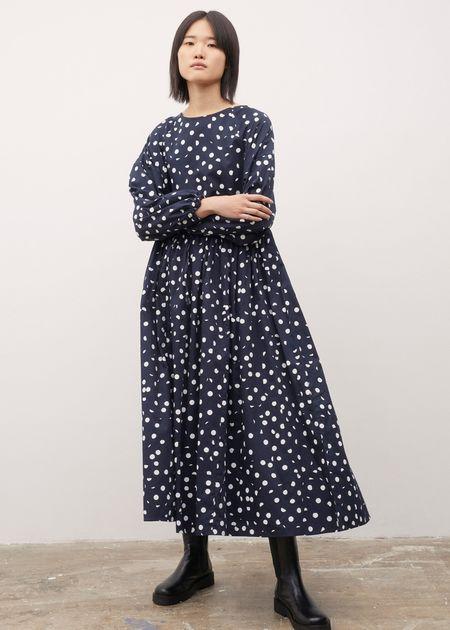 pre-loved Kowtow Miles dress - navy polka dot