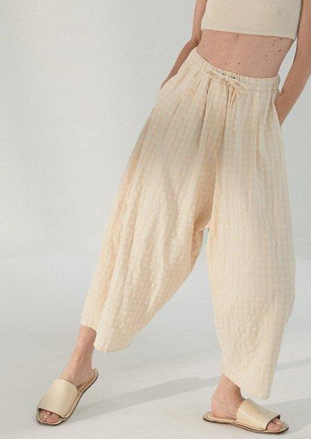 Mónica Cordera Checkered Maxi Pants - Sand