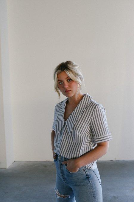 Just Female Rialto Blouse - Pavement Stripe
