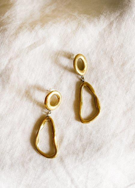 Dea Dia Imperfect Geometry Earring - BRASS