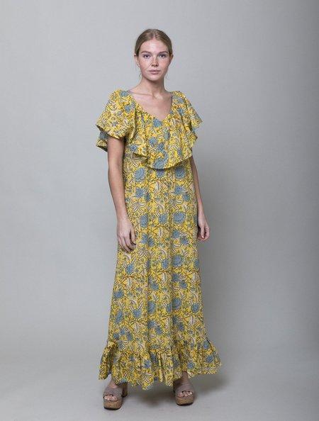 Mille Juliet Dress - Yellow Floral
