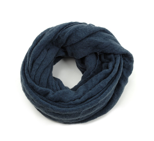 Blue Grey Cashmere Tube Scarf by Botto Giuseppe