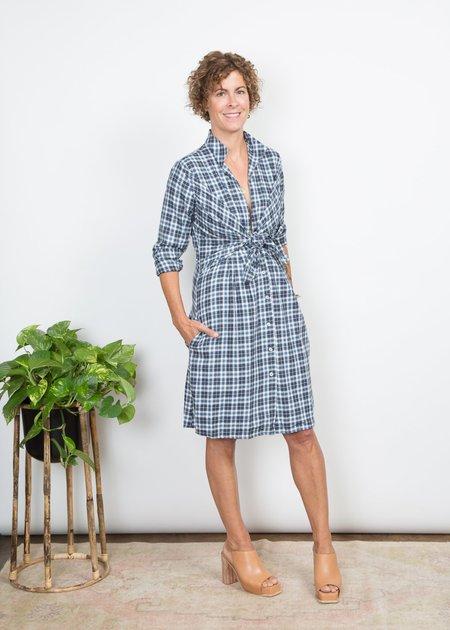 SBJ Austin Lauri Dress - Indigo Plaid