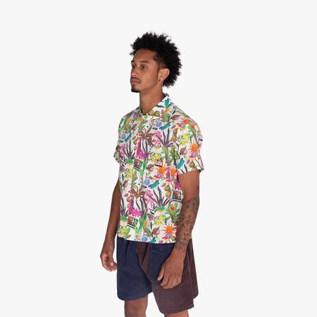 Real Bad Man Psychedelica Vacation Button Up Shirt - Multi
