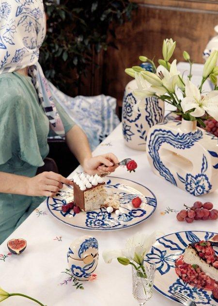 Gunia project Ceramic Vase - indigo